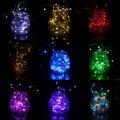 Impermeable 4 m 40 LEDs de Plata de Alambre de Luz de la Secuencia Garland Festival Fiesta de Navidad Decorativo Al Aire Libre Llevó La Lámpara IP66 con Baterías