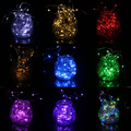 Waterproof 4m 40LEDs Silver Wire String Light Christmas Garland Festival Party Decorative Outdoor Led Lamp IP66 with Batteries