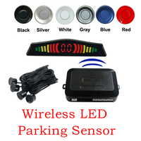 Free Shipping Wireless LED Parking Sensor Parking Assistance Car LED Parking Reverse Radar With 4 Sensors