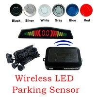 Free Shipping Wireless LED Parking Sensor Parking Assistance Car LED Parking Reverse Radar With 4 Sensors
