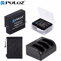 PULUZ For Go Pro Accessories 4 In 1 Battery 3 Channel Charger Storage Bag Storage Box