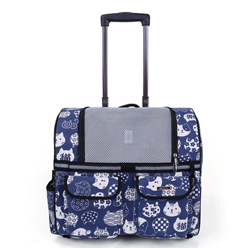 Suitcases Handbag Trolley Wheels Pet-Rolling-Luggage-Bag Foldable Travel-Bags Carry-On