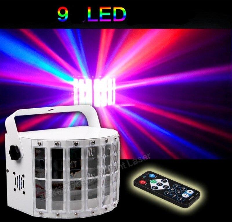 Télécommande 9 couleurs Led lampe de scène 30 W 14 Modes DMX512 KTV barre Laser lumières contrôle du son contrôle de la musique lampe de scène scintillement