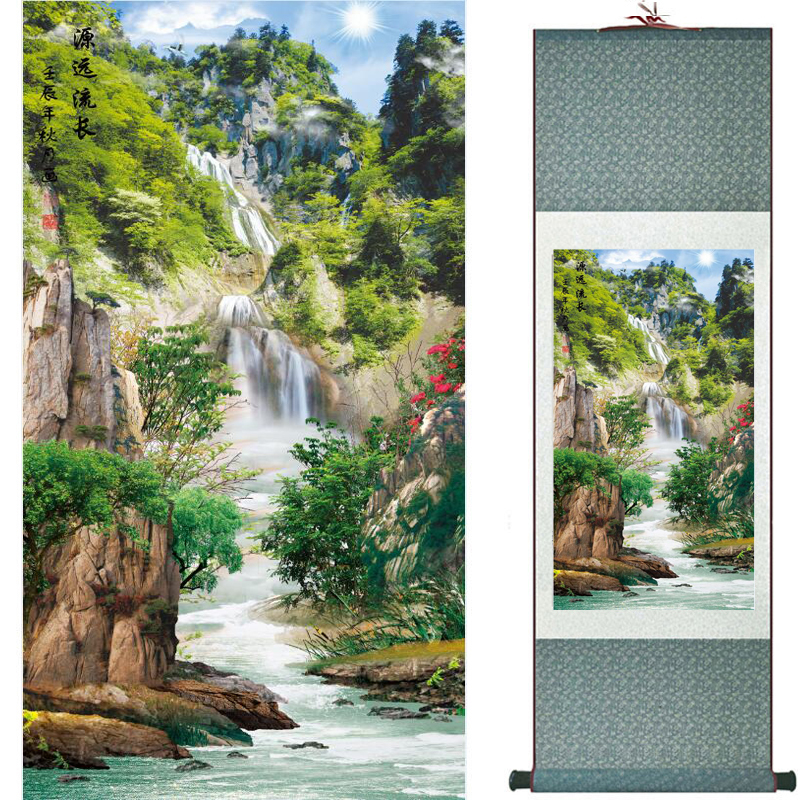 Mountain and river painting Home Office Decoration Chinese scroll painting mountain and River painting TX2017122109