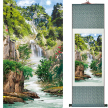 Mountain and river  painting Home Office Decoration Chinese scroll mountain River TX2017122109