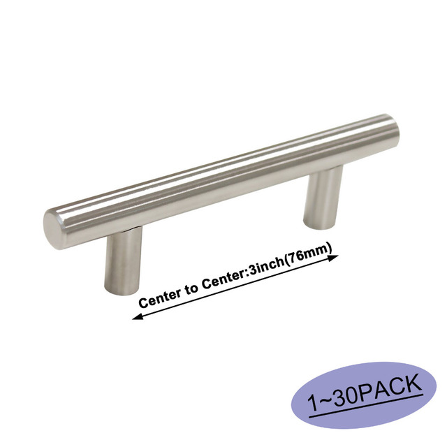 3inch Cabinet Drawer Door Handles Pulls Brushed Nickel Kitchen Wine Bathroom Furniture Dresser Pull 1 30pack