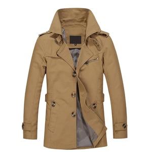 Image 3 - 2020 nova jaqueta masculina design de moda veste homme fino ajuste primavera outono inverno terno casaco sólido algodão cáqui marca roupas M 5XL