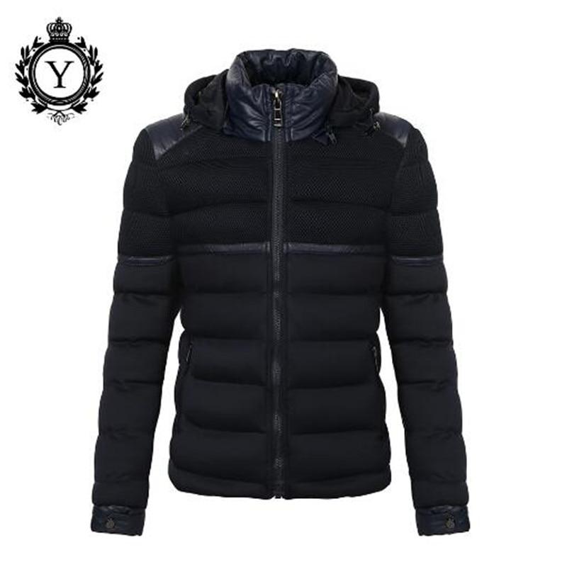 De Nouveau Épaississement Hommes Zipper Chaleur Vêtements 2018 Bas Vers Black Manteau Blue navy Collier Le Coton Hiver Marque EWfHqzY