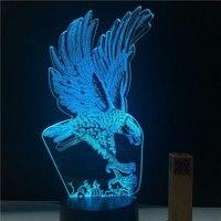 Adler Design 3D LED lampe 7 Farben RGB Home Decor Atmosphäre LED nachtlicht USB FÜHRTE Einzigartige Beste Geschenk für Tropfen-verschiffen