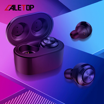 CALETOP A6 Earphones Bluetooth 5.0 TWS Headphones Mini Invisible 3D HiFi Stereo Wireless Headset CVC 8.0 Noise Reduction Earbuds