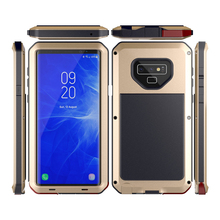 Luxury Heavy Duty Protection Mobile Phone Cases For Samsung Galaxy Note 9 8 5 4 3 Metal Phone Case