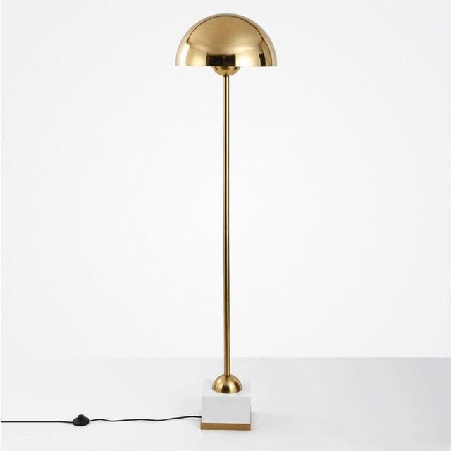designer standing lamps living room european creative gold metal hat floor lamp designer project customized led light villa club standing lamps