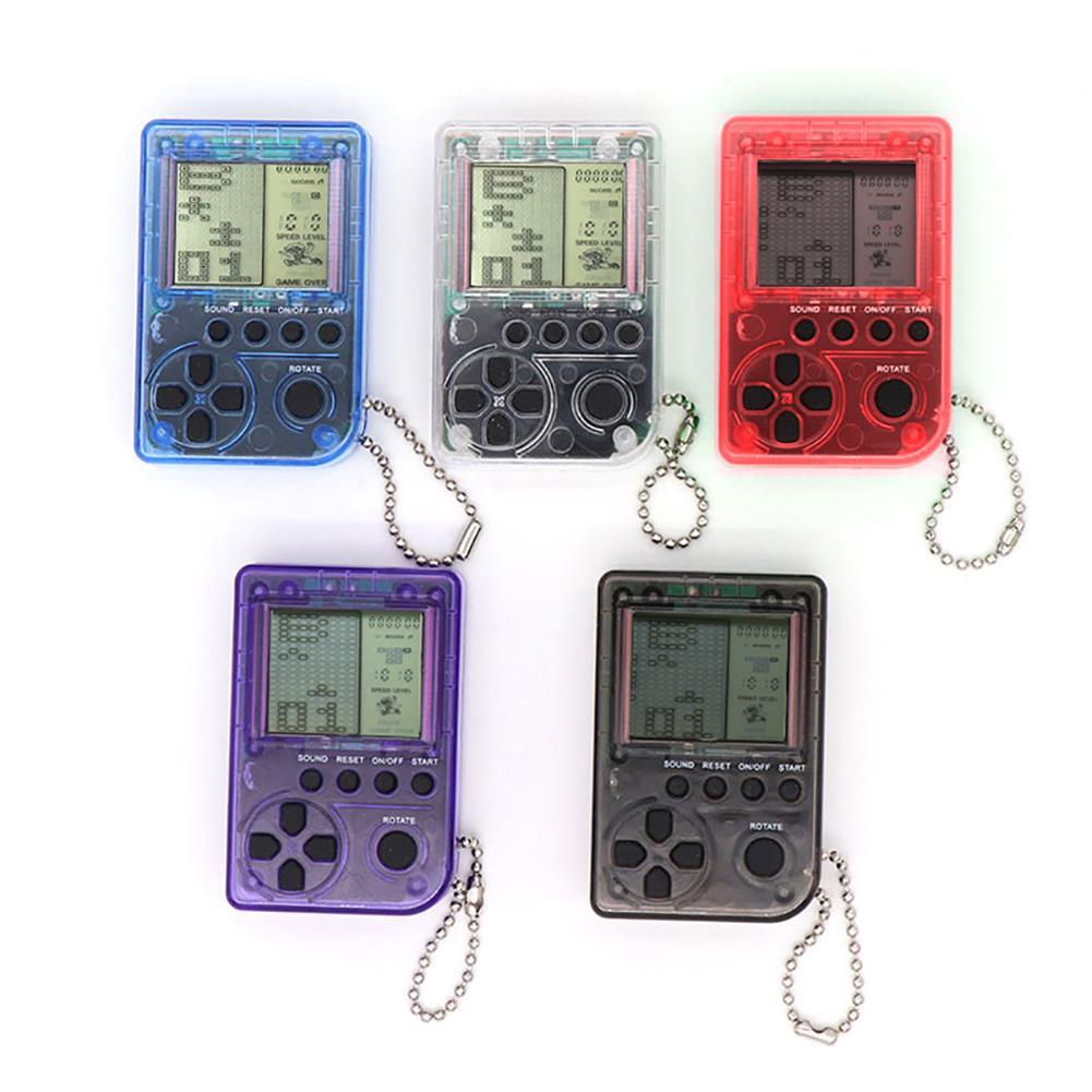 Mini Classic Tetris Game Console Children's Game Console Retro Nostalgic Keychain Portable Fast Shipping High Quality Small