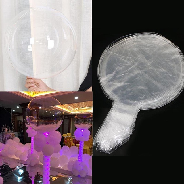 Wedding party decorate and decorate led with light 18 inch transparent traceless wave ball luminous feather balloon toy gift