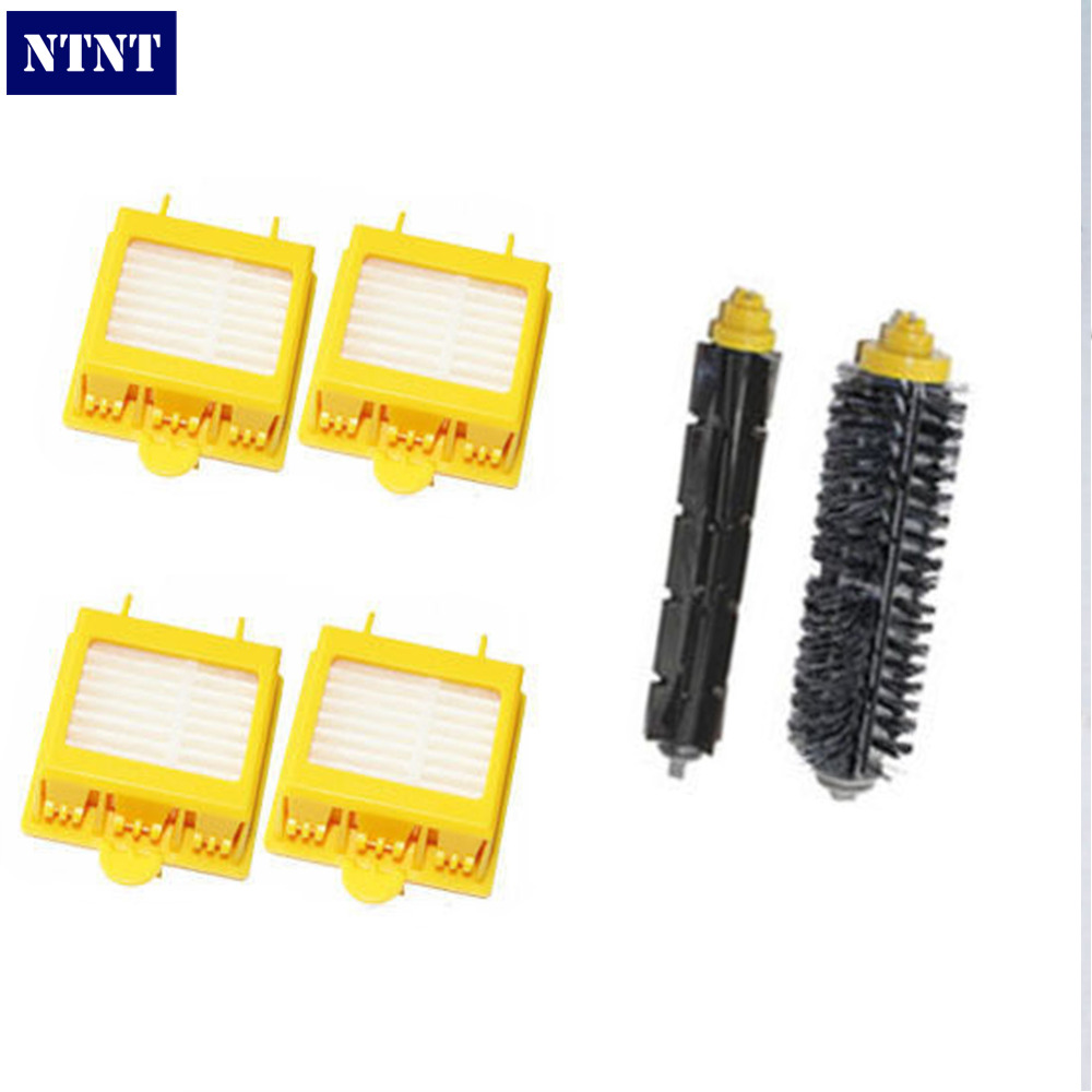 NTNT Free Post Shipping New Filters & Brush Pack Kit for iRobot Roomba 700 Series 760 770 780 high quality filters brush pack kit for 700 series new arrival