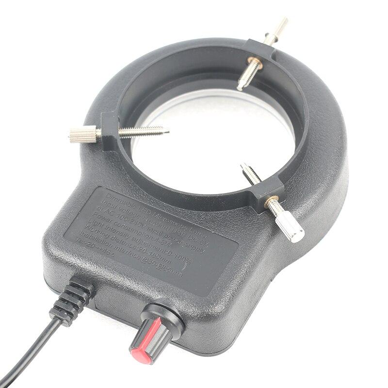 lowest price Adjustable 6500K 144 LED Ring Light Illuminator Lamp For Industry Stereo Microscope Lens Camera Magnifier 110V-240V Adapter