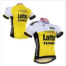 2016 New Team Lotto Brand Breathable 100% Polyester Cycling Jerseys/Quick-Dry Mountian Bike Sports Clothing Jerseys Cycling
