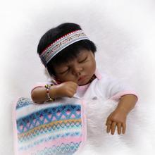 22″ soft vinyl dark skin color Indian ethnic reborn babies dolls