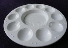 10 Wells Design Plastic Palette Art Paint Plastic Drawing Tray Color Palette For Oil Watercolour White Painting Pallet