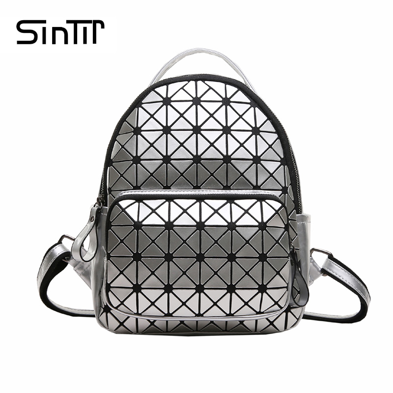 SINTIR 2017 Fashion Geometric Women Backpack Famous Brand Baobao Backpacks Female Mochila Escolar School Backpack For