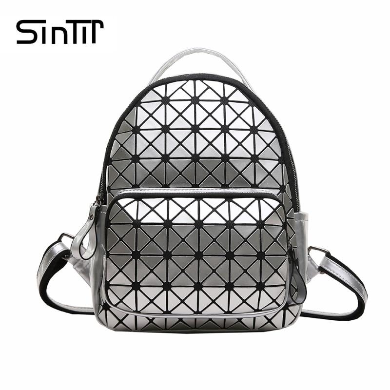 SINTIR 2017 Fashion Geometric Women Backpack Famous Brand Casual Small Backpacks Female Mochila Escolar School Backpack
