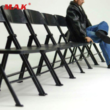 купить 1/6 Soldier Figure Accessory Folding Chair Model Family Scene Dr.FIGURES Black Chair for 12