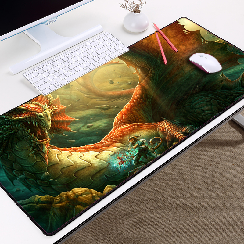 Congsipad Decorate Your Computer Desktop Hadsome Dragon Mousepad Gaming Table Mousepad Mice Mat Laptop Mouse Rubber Mat