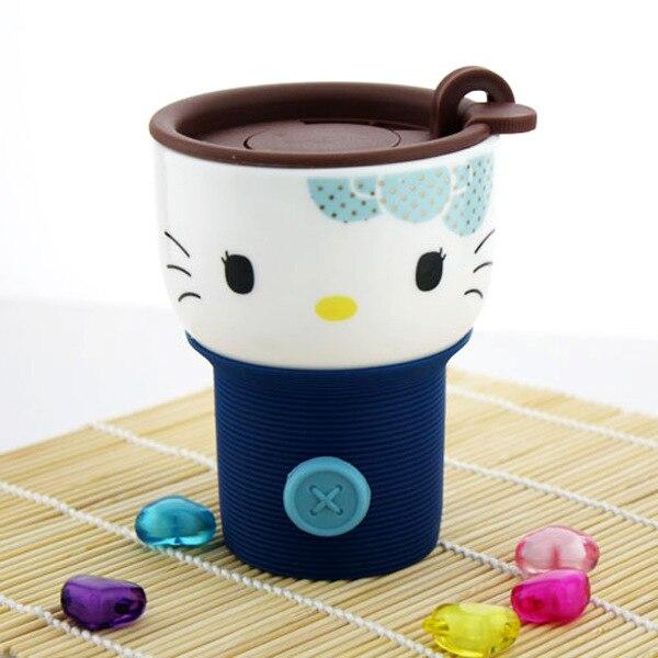 Bone China Creative <font><b>Kitty</b></font> <font><b>Cat</b></font> Lovers Mug Ceramic Milk Coffee Cereal Tea <font><b>Cup</b></font> KT <font><b>Cat</b></font> Cartoon <font><b>Cup</b></font> with Lid Valentine's Day Gift New