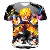 Ultra Energy 3D impression T-shirt hommes été Anime à manches courtes Top et Tee-shirt garçon T-shirt Dragon Ball Streetwear femmes livraison directe
