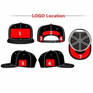 Image 2 - Logo personalizza cap piccola quantità di snap chiudi cap golf tennis papà cappello da sole visiera del cappello squadra di modo che porta da baseball cap