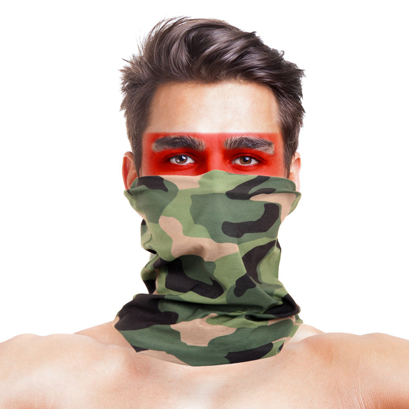 Magic Multi Wear Scarf Men Women Head Bandanas 100% Polyester Military Camouflage Face Mask Windproof Neck Warmer Headband Scarf(China)
