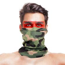 Волшебный шарф для мужчин и женщин, головные банданы, полиэстер, военный камуфляж для лица, Ветрозащитная маска для шеи, теплая повязка на голову, шарф