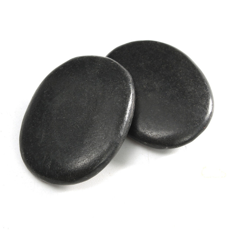 20pcs/lot Black Hot Spa Rock Basalt Energy Toe Face Oval Stones Massage Therapy Lava Natural Health Care Relaxation