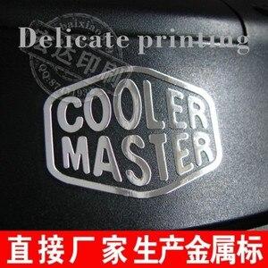 Image 3 - 除去できないカスタムメイドロゴステッカー4.5*1.5センチ金属ロゴステッカーブランドロゴステッカーラベルステッカー