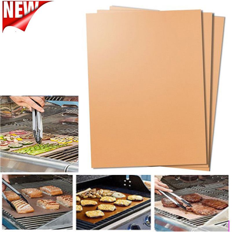 3PCS Non-Stick BBQ Magic Grill Mat Perfect for Baking on Gas Heat Resistant Bakes Food Light and Crispy Dropshipping R40