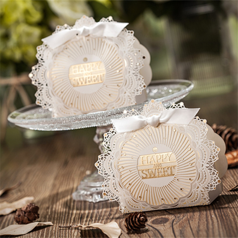 Free Shipping 50pcslot Bridal Shower Laser Cut Wedding Favor