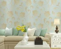Luxury Classic Wall Paper Home Decor Background Wall Damask Wallpaper Floral Wallcovering 3D Velvet Wallpaper