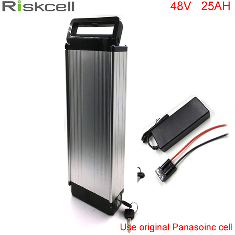 Rear rack lithium battery 48v 25Ah ebike battery pack for ebike+charger 48v electric bicycle battery For Panasonic 18650 Cell 48v 34ah triangle lithium battery 48v ebike battery 48v 1000w li ion battery pack for electric bicycle for lg 18650 cell