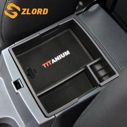 Zlord ABS konsoli środkowej podłokietnik samochdoowy pudełko do przechowywania samochód wnętrze pojemnik Box dla Ford Everest 2016 2017 akcesoria w Sprzątanie i organizacja od Samochody i motocykle na