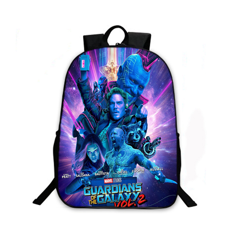 Women Fashion Backpack Guardians of the Galaxy Vol.2 School Backpack Boys Girls School Bags Children Bookbag Kids Daily Backpack