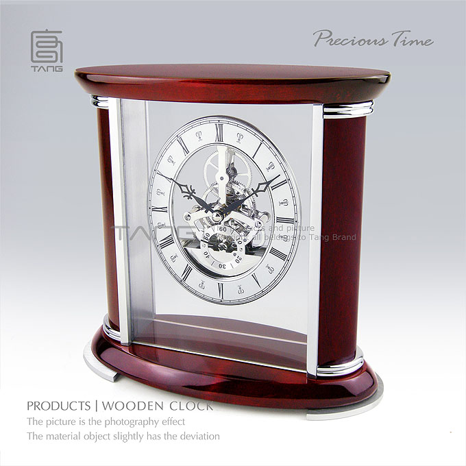 New Hand-made Wood Clock Watches Red Color Piano Lacquer Top Quanlity Gift Clock