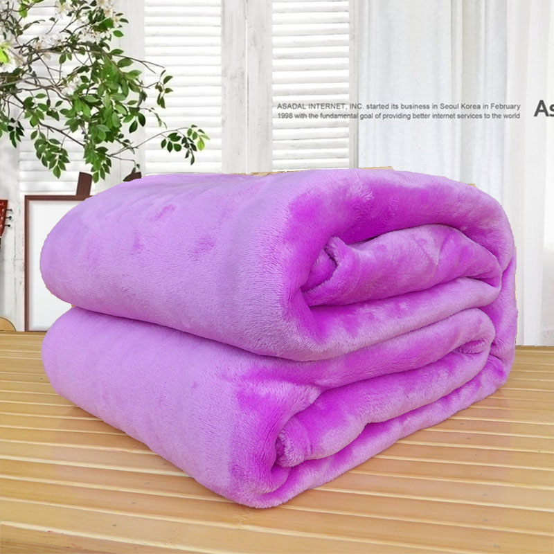 Home Textile Soft blanket Sofa/Bedding Throws Flannel Blanket Winter Warm Soft Bedsheet bedspread cobertor 180*200CM