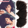 7A Rainha Ensolarado Produtos de Cabelo 3 PCS Brasileiro Virgem Cabelo Weave Bundles Kinky Curly Brasileiro Virgem Cabelo Afro Kinky Curly cabelo