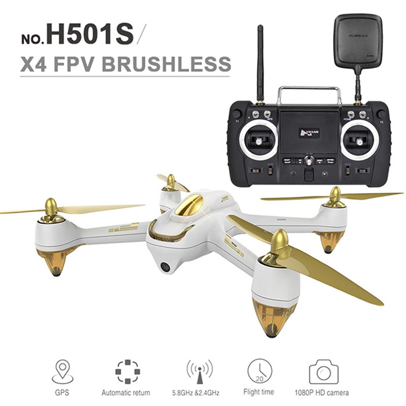 Hubsan H501S X4 RC Drone 5.8G FPV 10CH Brushless Helicopter 1080P HD Camera GPS Quadcopter Follow Me Advanced Version Drones lipo battery 7 4v 2700mah 10c 5pcs batteies with cable for charger hubsan h501s h501c x4 rc quadcopter airplane drone spare
