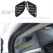 Lapetus ABS Carbon Fiber Style Side Air Conditioning AC Outlet Vent Decoration Frame Cover Trim Fit For BMW X1 F48 2016 - 2019