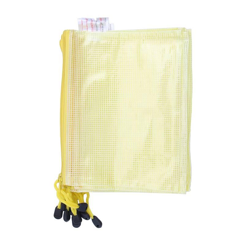 10 x офисная сетка A5 файл Бумага для документов на молнии карман держатель желтый