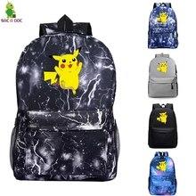 Pokemon Go Backpacks Teenage Student School Bags Unisex Notebook Backpack Travel Bags Boy Mochila Rucksack Galaxy Bolsa Escolar