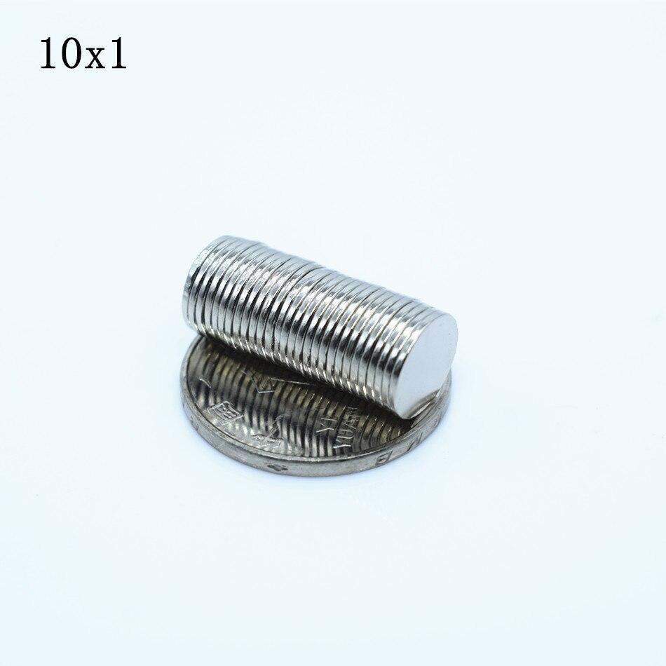 200 шт. неодимовый магнит 10×1 редкоземельных Небольшие крепкие круглые Постоянный 10*1 мм холодильник Электромагнит NdFeB никель Магнитная диск