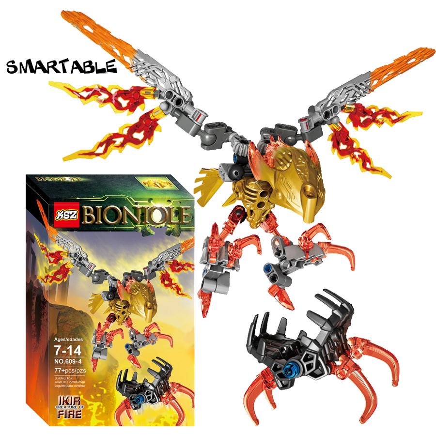 Smartable BIONICLE 77 pcs Ikir Creature of Fire figures 609-4 Building Block toys Compatible legoing BIONICLE LEPIN Gift lepin 22001 pirate ship imperial warships model building block briks toys gift 1717pcs compatible legoed 10210