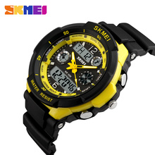 SKMEI Sports Watches Men Dual Display Wristwatches Chronograph 50M Waterproof Alarm Calendar Back Light Wristwatch 0931 skmei 50m waterproof three movement men s electronic watches black mirror silver